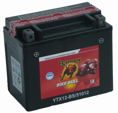 Banner Bike Bull Motor Akkumulátor 51012 (YTX12-BS) 12V 10Ah 160A Bal+