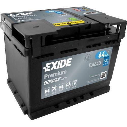 EXIDE Premium Akkumulátor 12V 64Ah 640A Jobb+ (EA640)