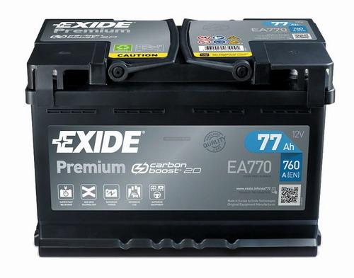 EXIDE Premium Akkumulátor 12V 77Ah 760A Jobb+ (EA770)